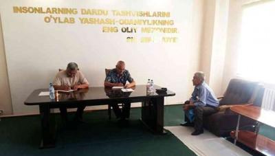 Navoiy viloyati IIB boshlig'ining o'rinbosari – Tergov boshqarmasi boshlig'i sayyor qabul o'tkazdi